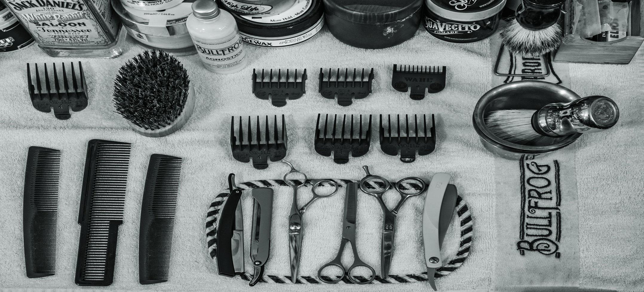 foto di strumenti per barbieri