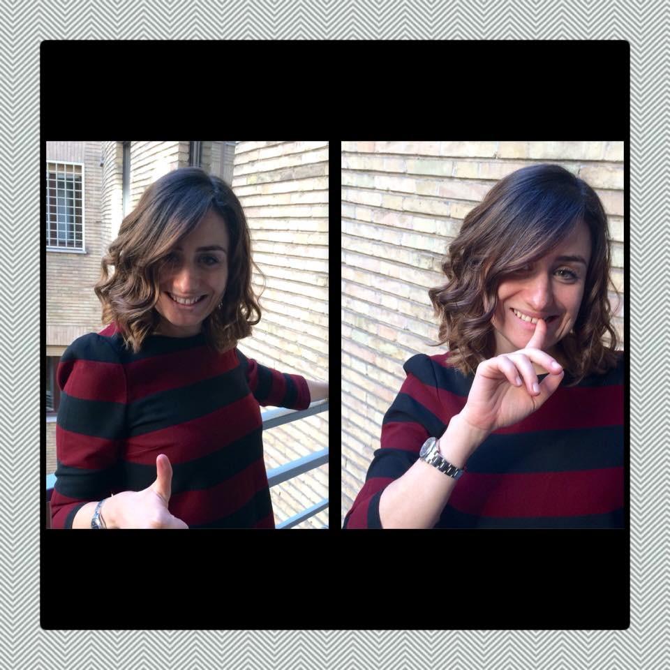Il taglio di capelli medio di Violetta Negrin