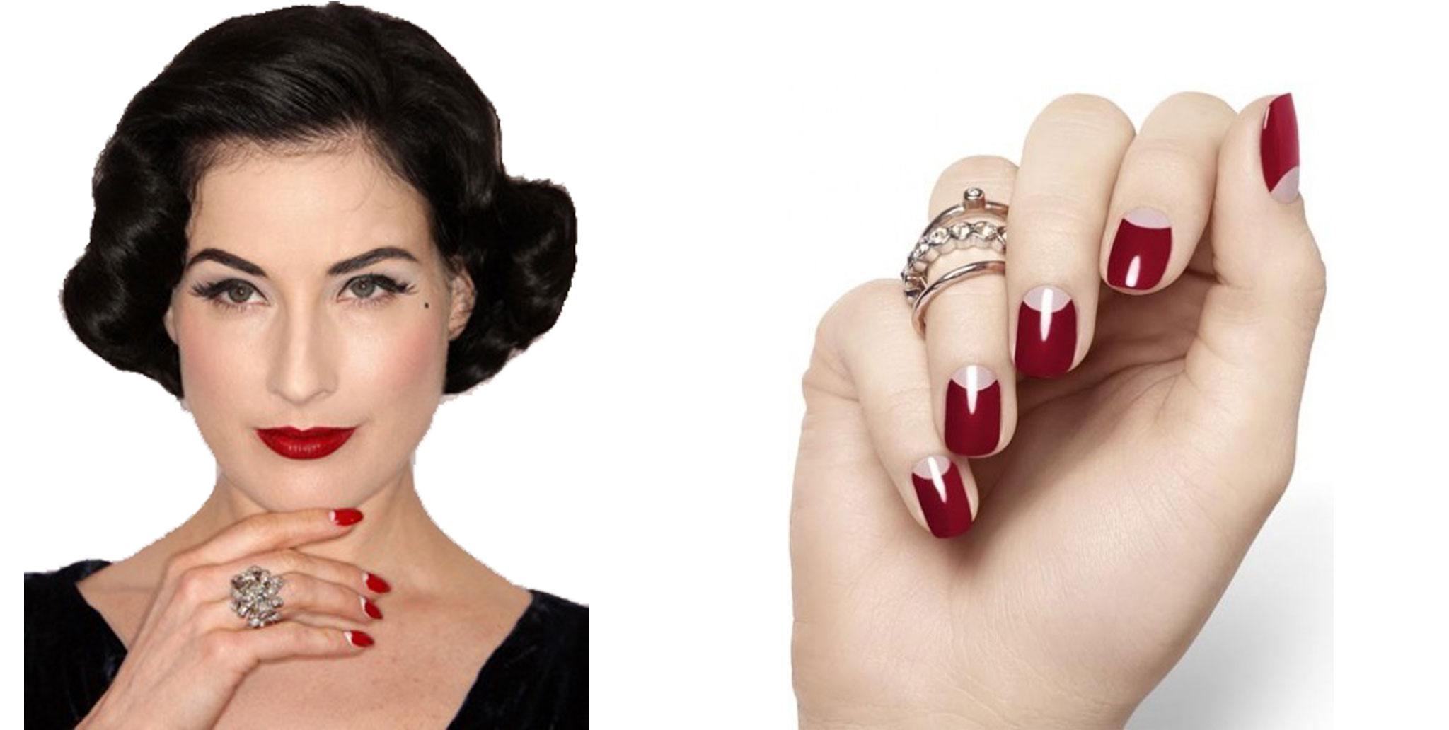 French manicure inversa