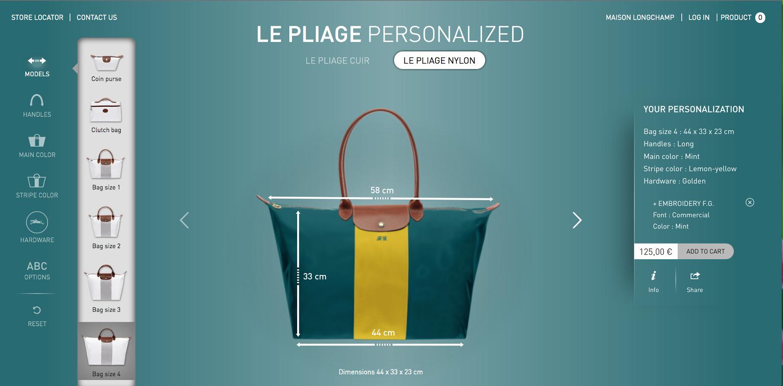 Foto della borsa di Longchamps