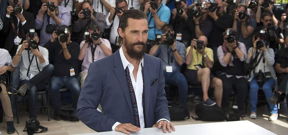 Il nuovo loook con la barba di Matthew McConaughey