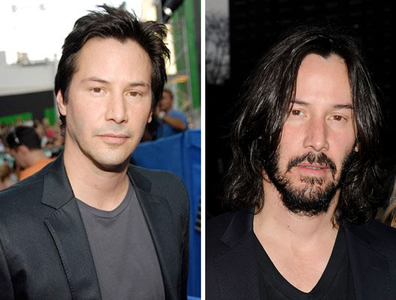 Keanu Reeves con la barba