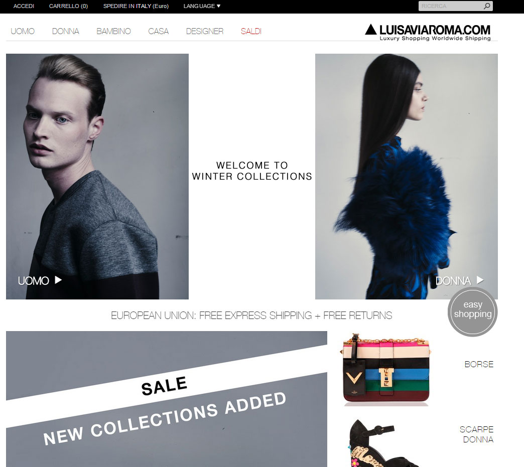Shopping online su Luisa Via Roma