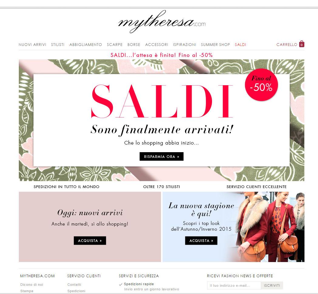 Shopping online su Mytheresa