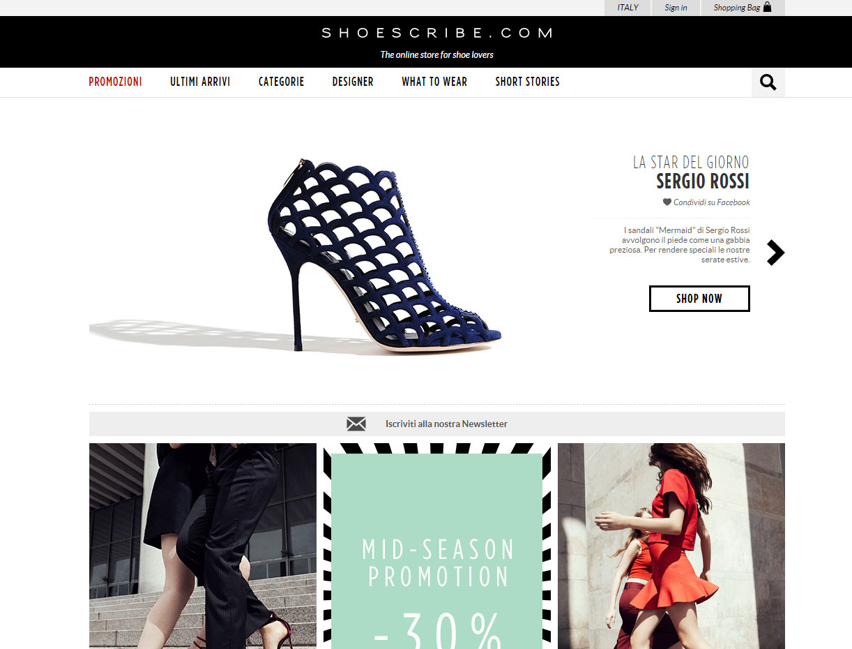 Shopping su shoescribe.com
