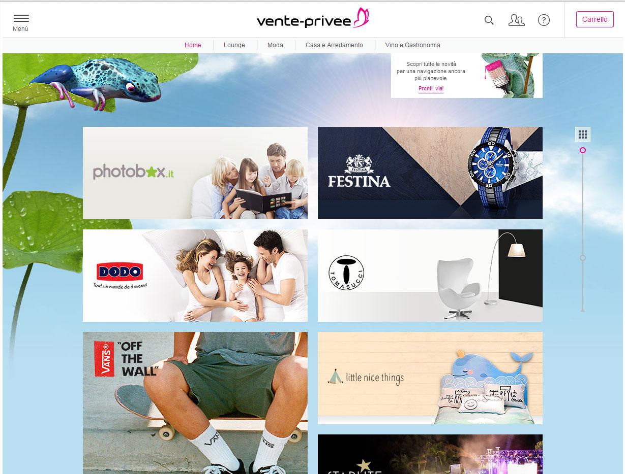 Shopping online su Venteprivee