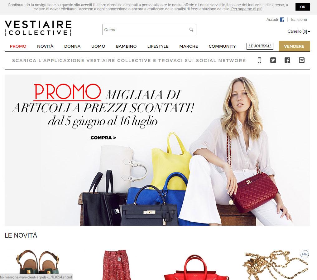 Shopping online su Vestiaire Collective