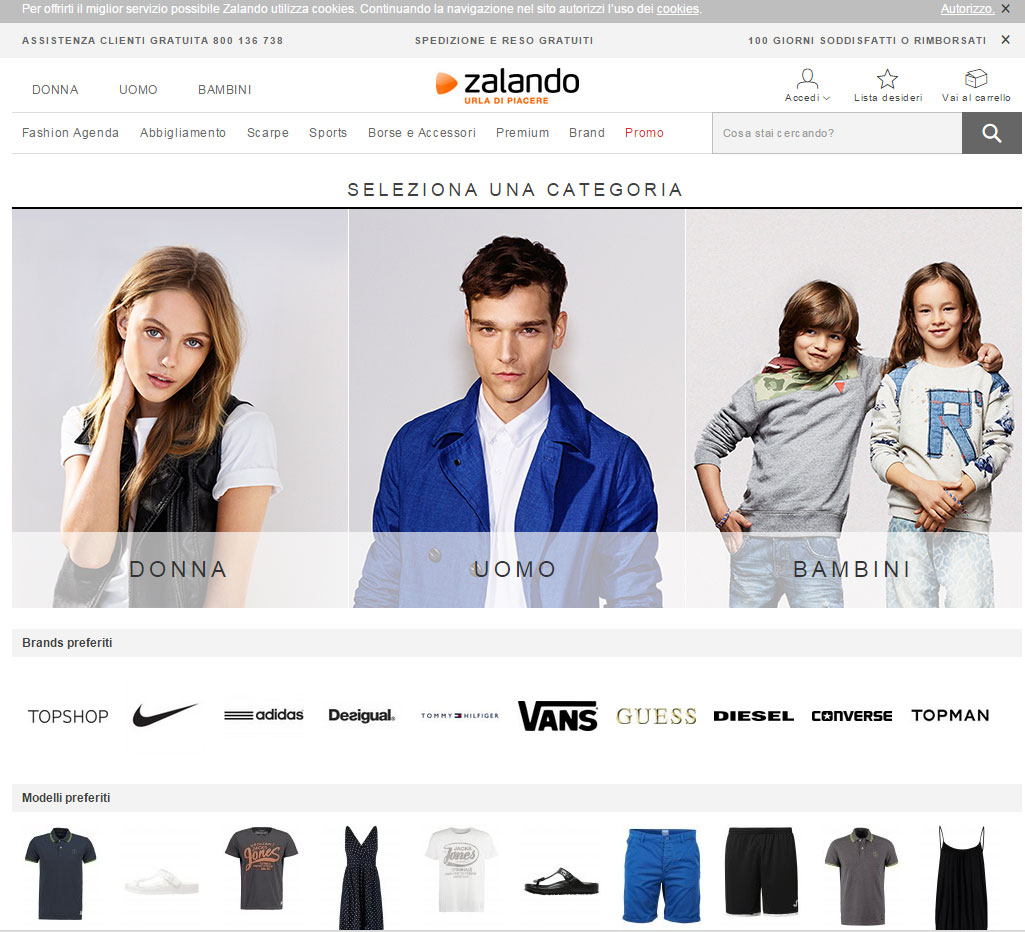 Shopping on line su Zalando
