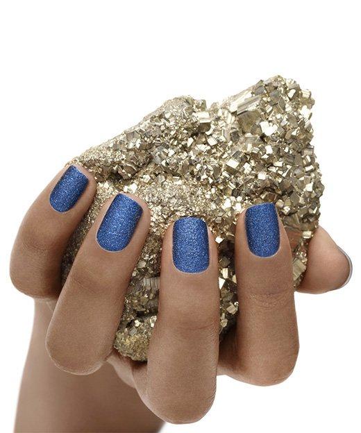 Unghie glitter blu