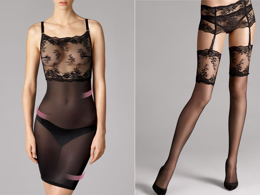 Wolford: Filigra Lace Stockings