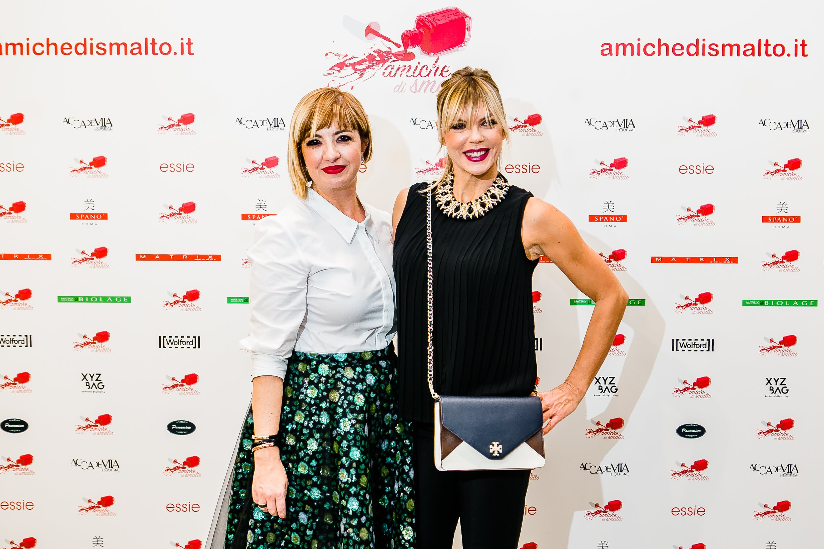 Matilde Brandi al Beauty Party di Amiche di Smalto