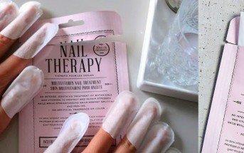 come rinforzare le unghie con le maschere in tessuto