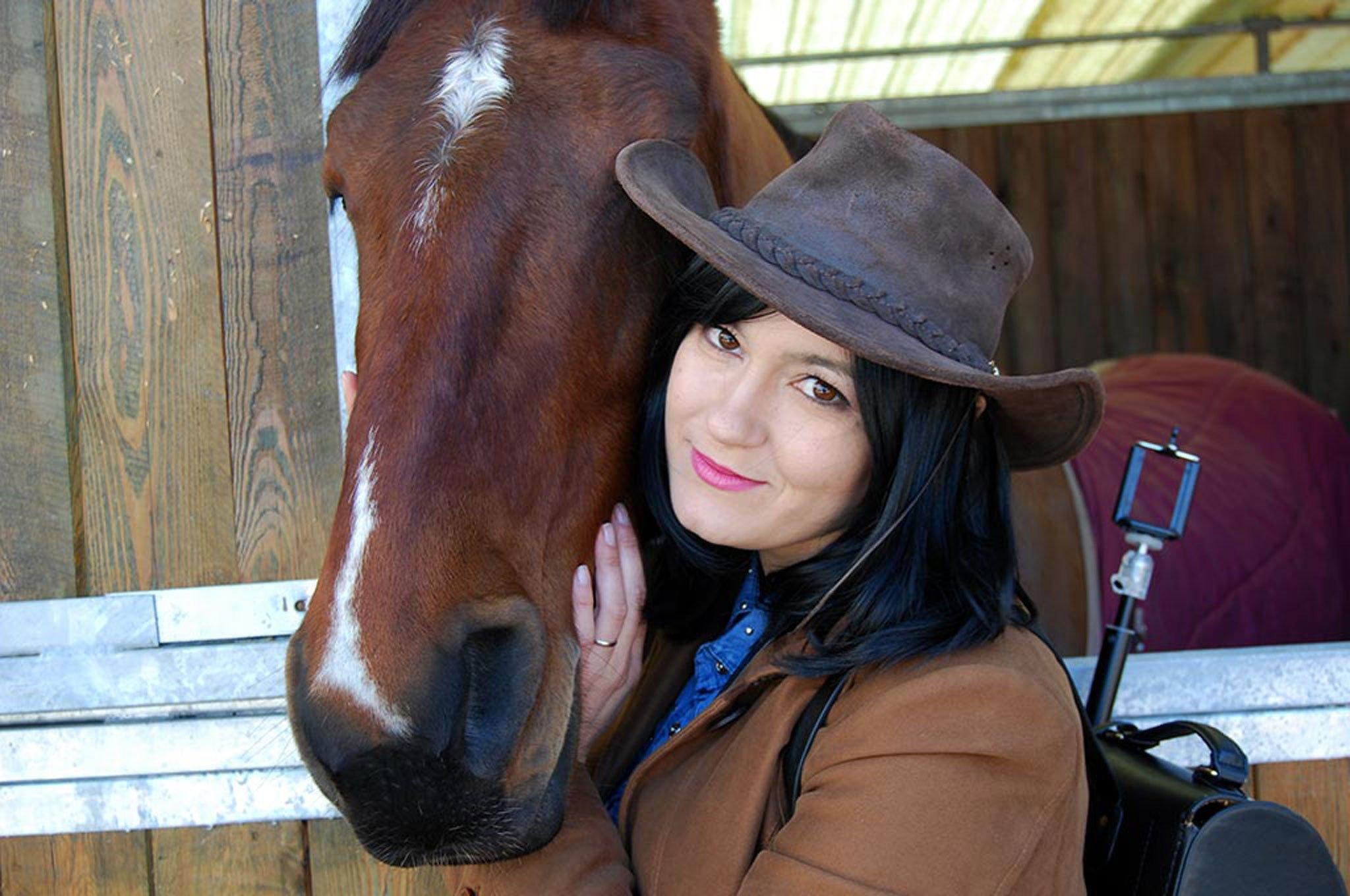 Foto di Alice con un cavallo