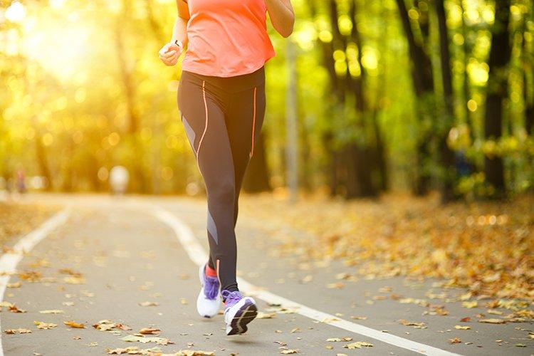 Foto di un allenamento con camminata veloce