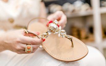 Foto dei sandali capresi gioiello di Preludio