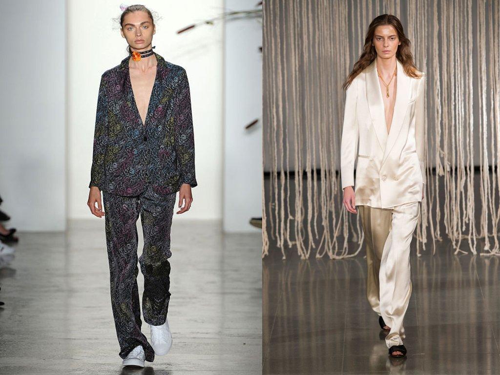 Foto di due modelli stile pigiama