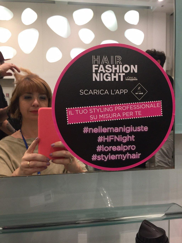 Foto di Claudia alla Hair Fashion Night