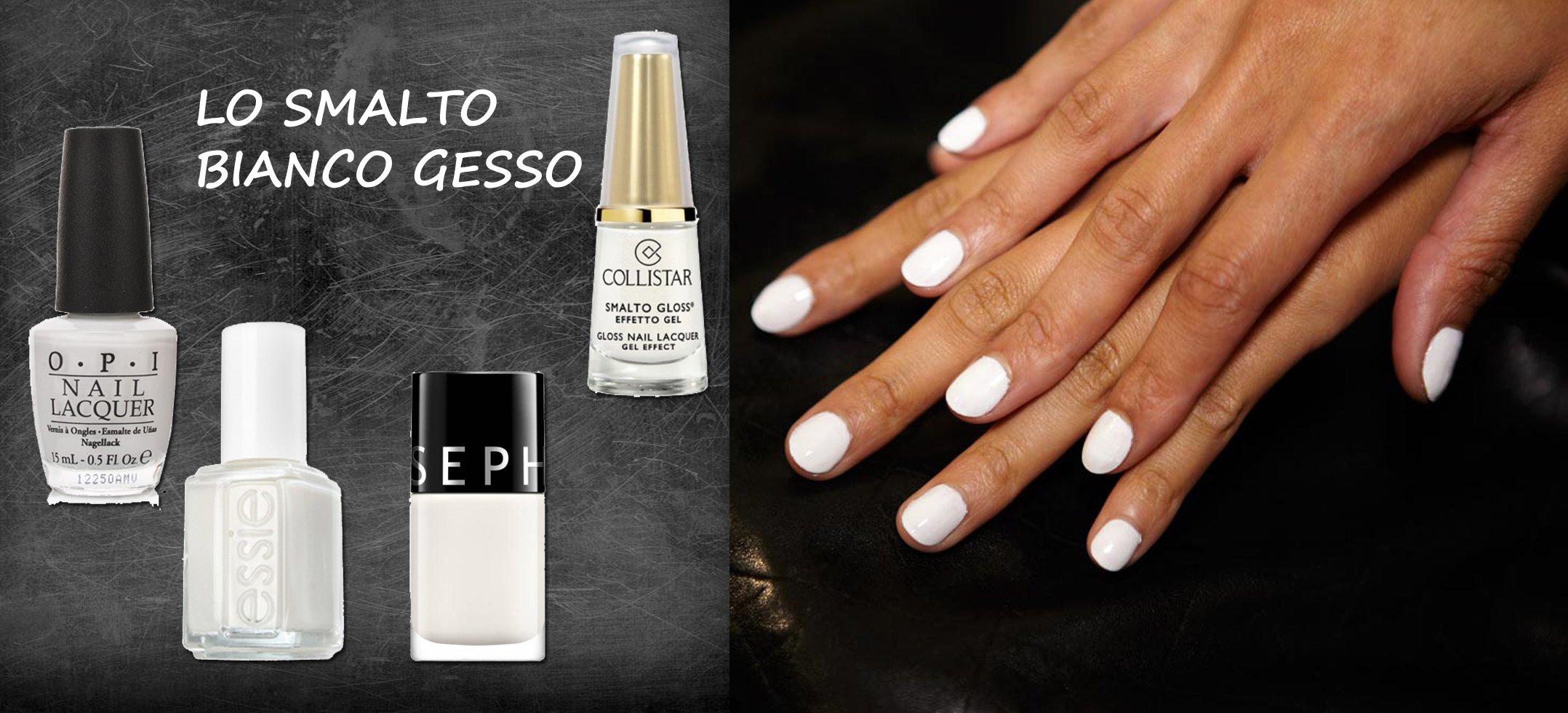 Top Smalto bianco per unghie come il gesso EV34