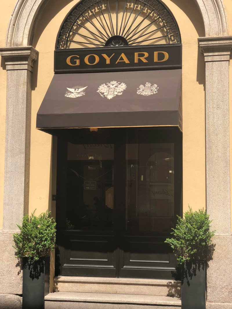 Foto della Boutique Goyard Milano