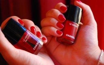 Foto gli smalti rossi Chanel
