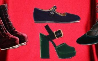 Foto di scarpe di velluto