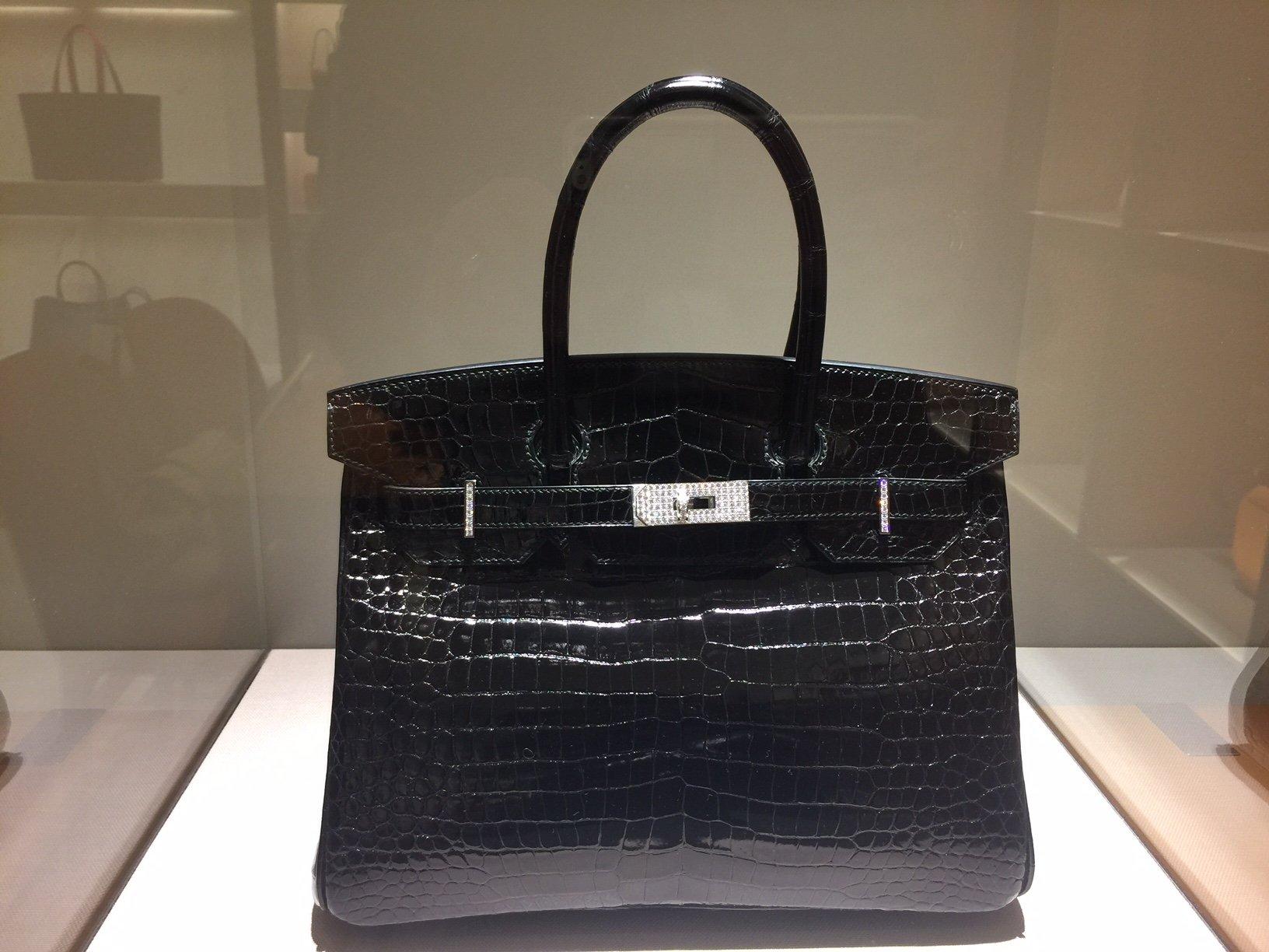Borsa in coccodrillo Birkin di Hermès