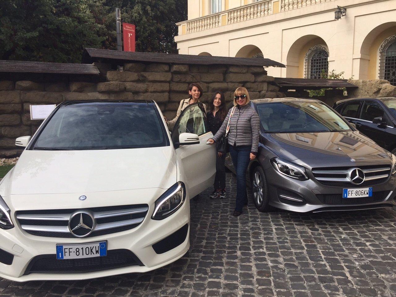 Con la Mercedes Classe B Next