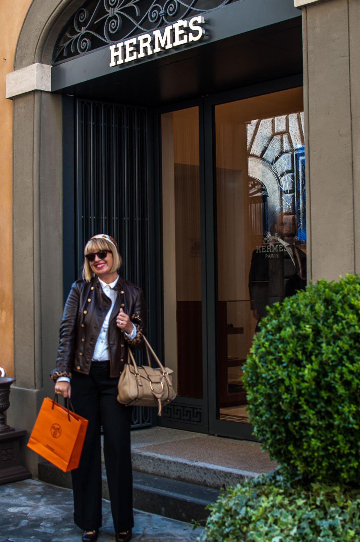Foto della nuova boutique Hermes a Roma