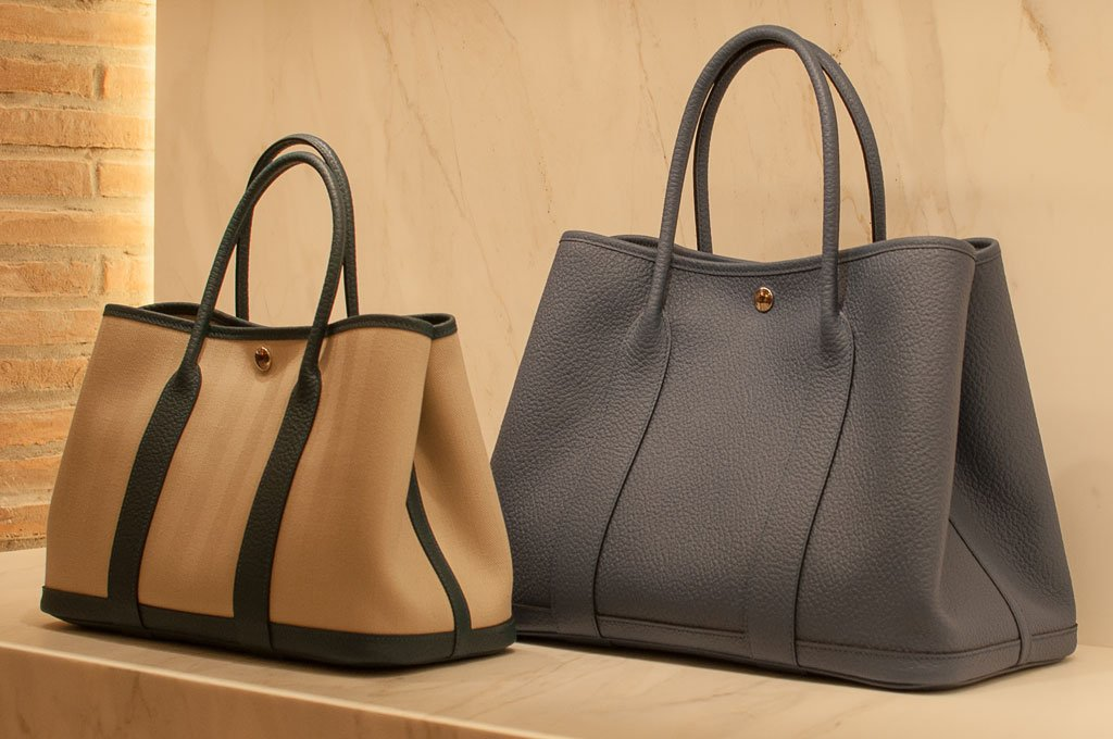 Due modelli di Garden Party di Hermès