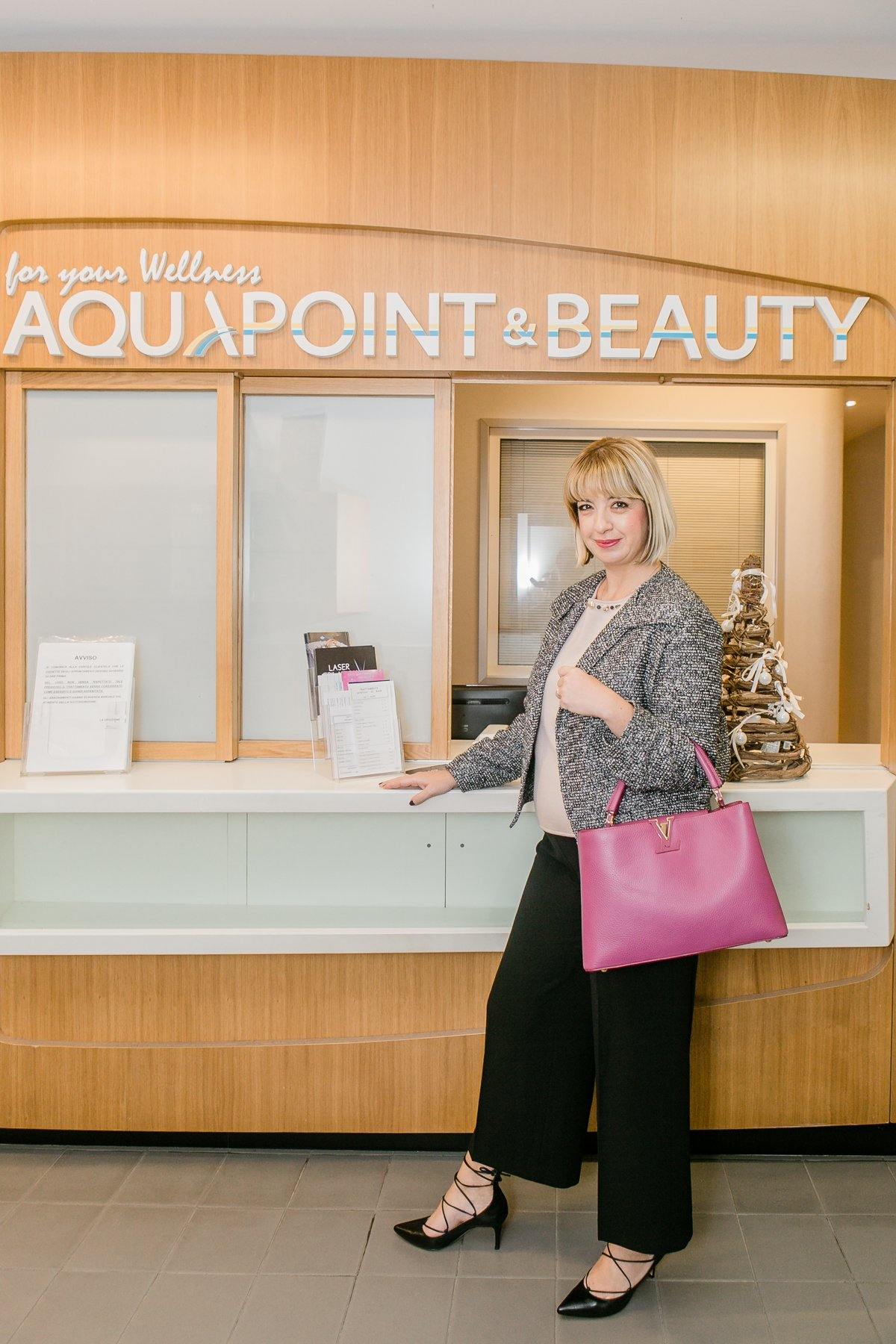L'ingresso del centro Aquapoint & Beauty