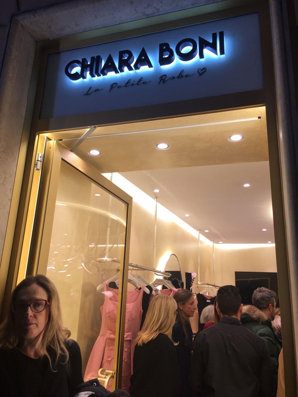 L'esterno della boutique di Chiara Boni a Roma