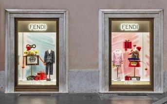 La vetrina della Boutique Fendi Kids a Roma