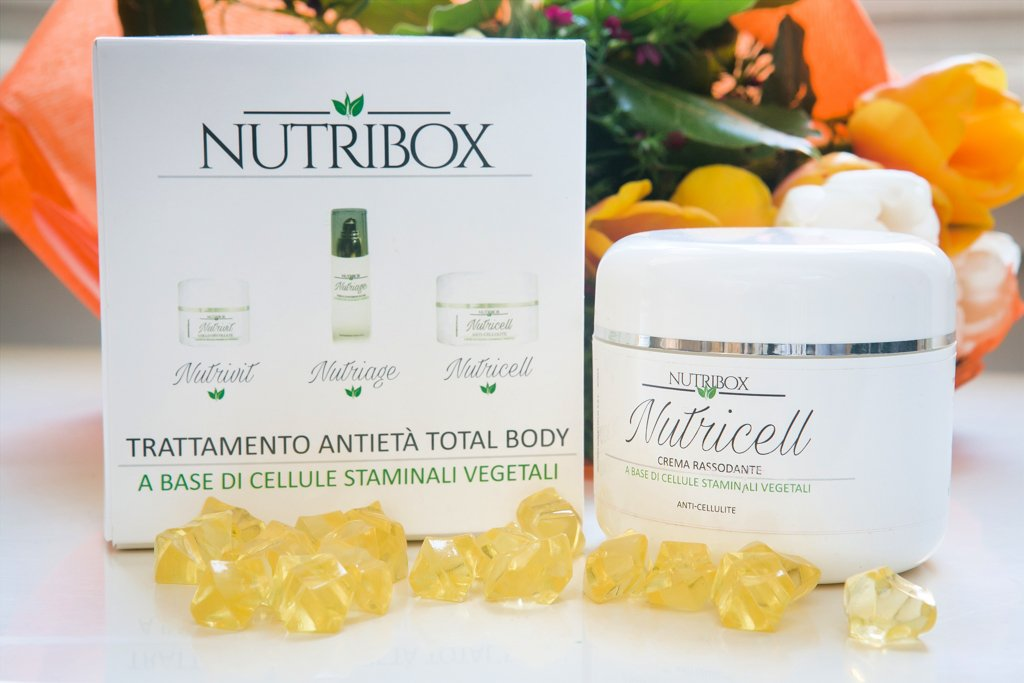 La crema anticellulite nel cofanetto Nutribox
