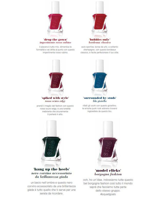 Collezione after party Essie Gel couture