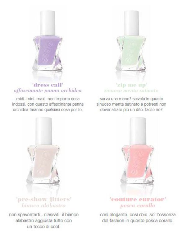 Collezione First Look di essie gel couture