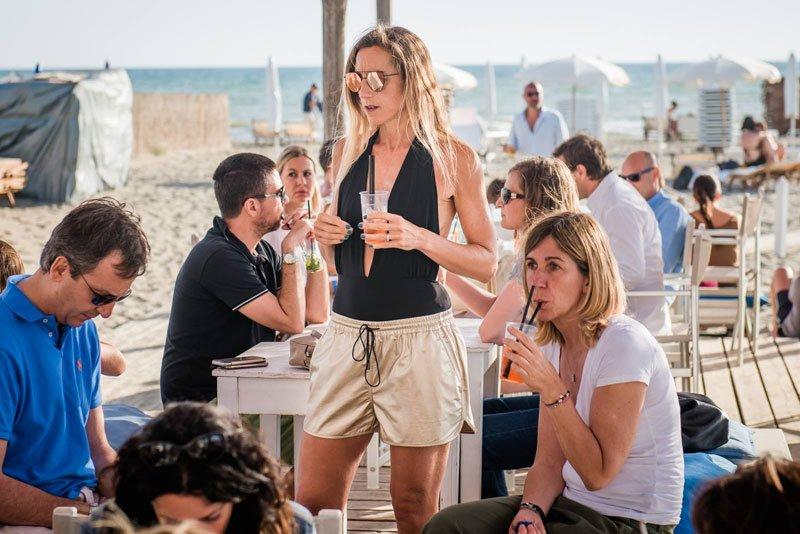 Look festa inspieggia: shorts in lurex