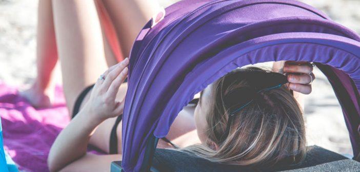 Il Parasole Shader, Portatile e con Tanti Accessori per il Relax