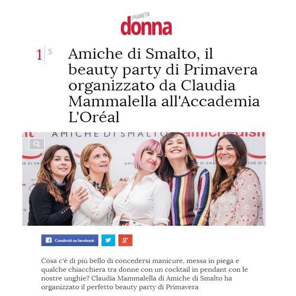 Rassegna Stampa Pianeta Donna