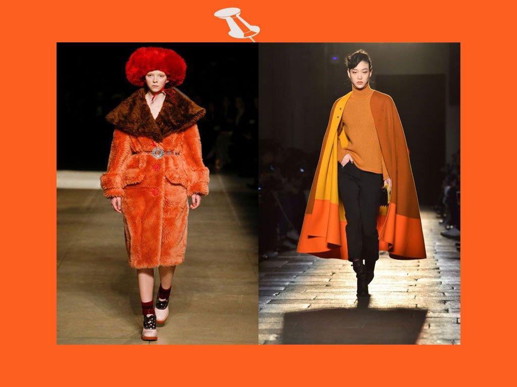 Colori moda autunno inverno 2017-2018: arancione