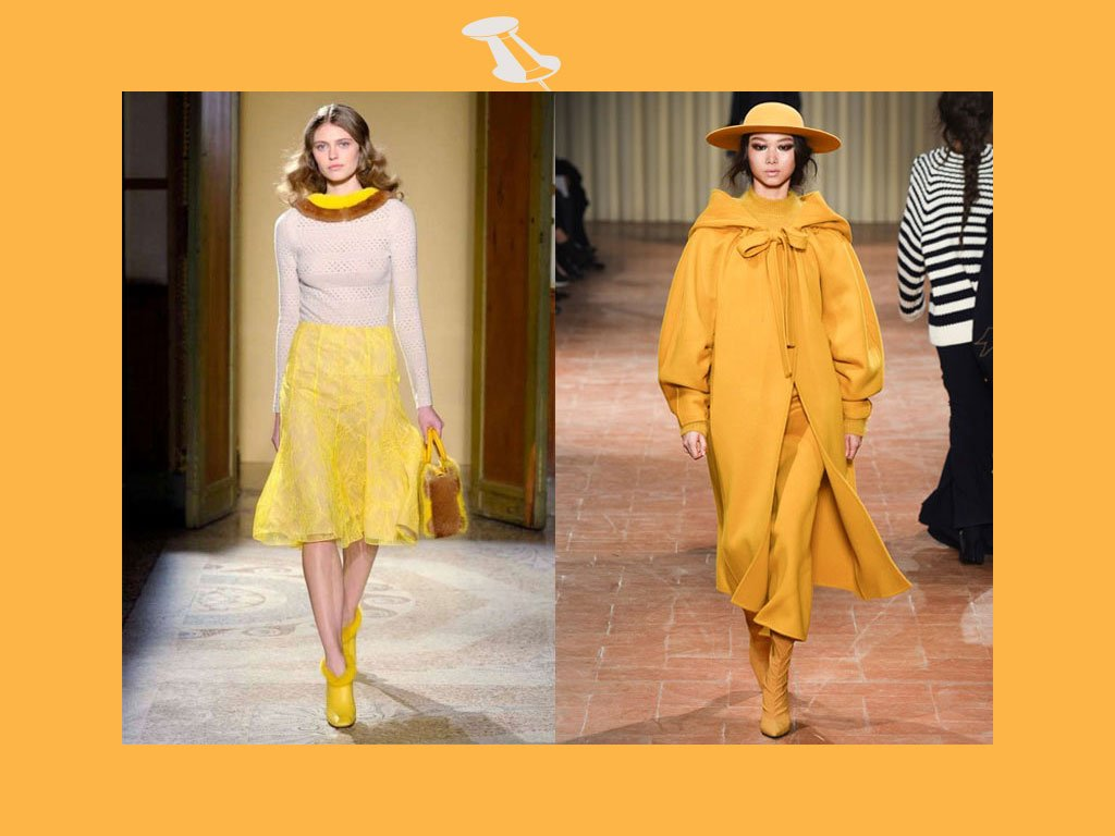 Colori moda autunno inverno 2017-2018: il giallo