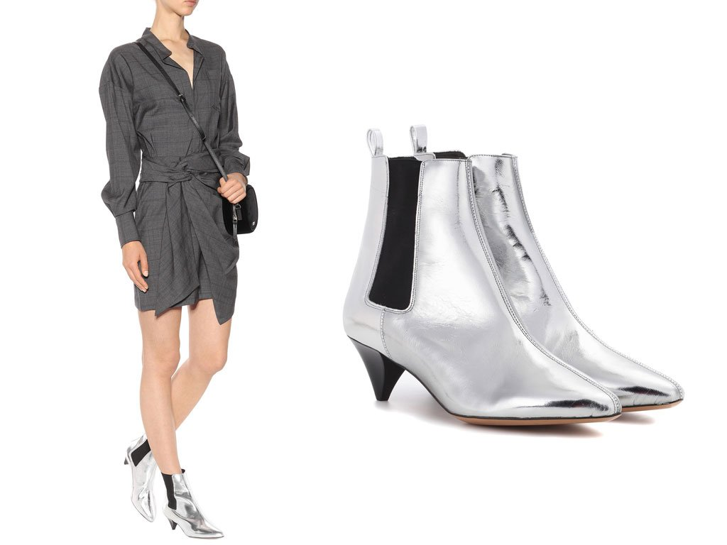 Ankle Boots argento Isabel marant