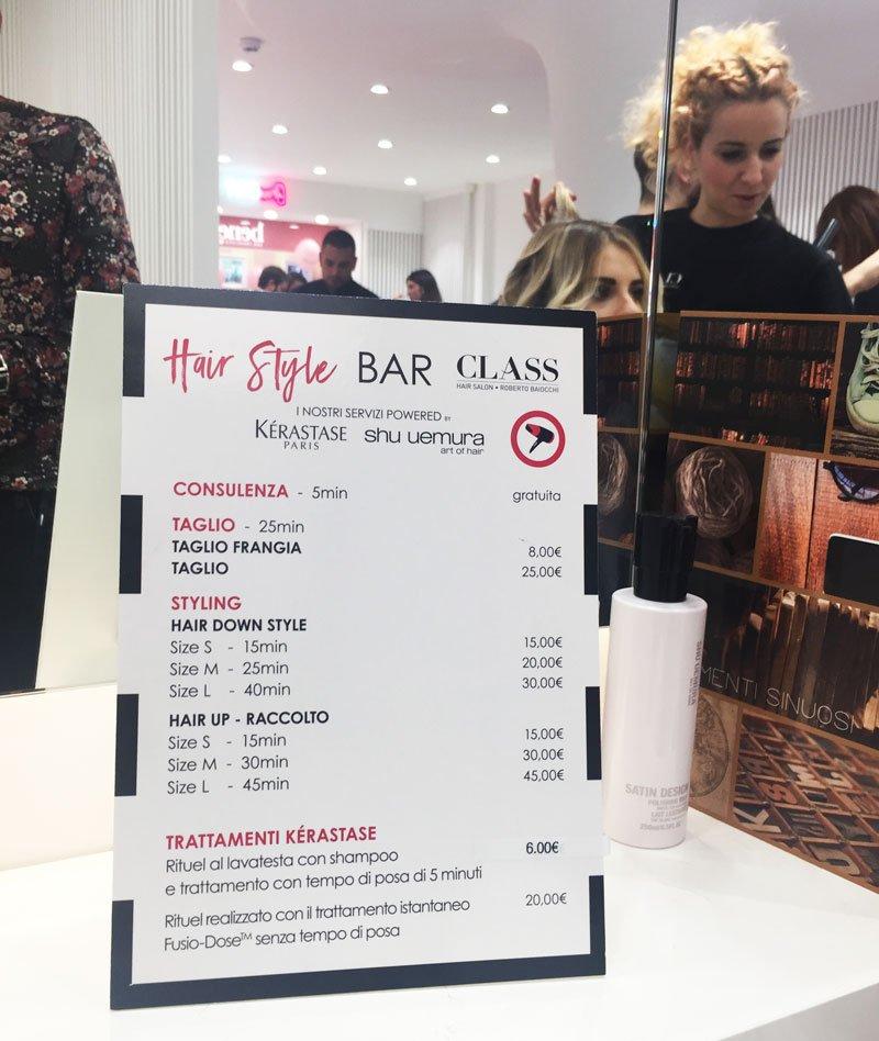 I servizi dell'Hair Style Bar