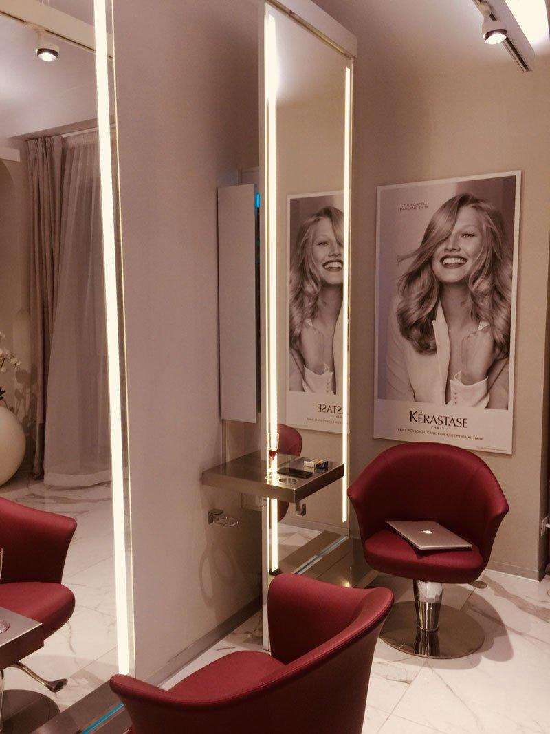 Nella sala privata della Maison Ciuti & Ciuti Roma