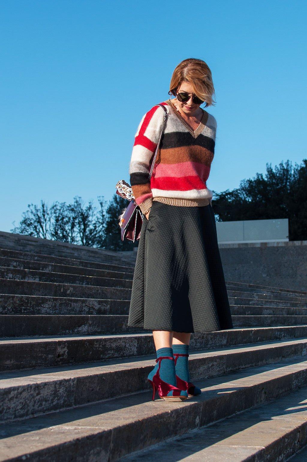 Sandali con il calzino di Fendi