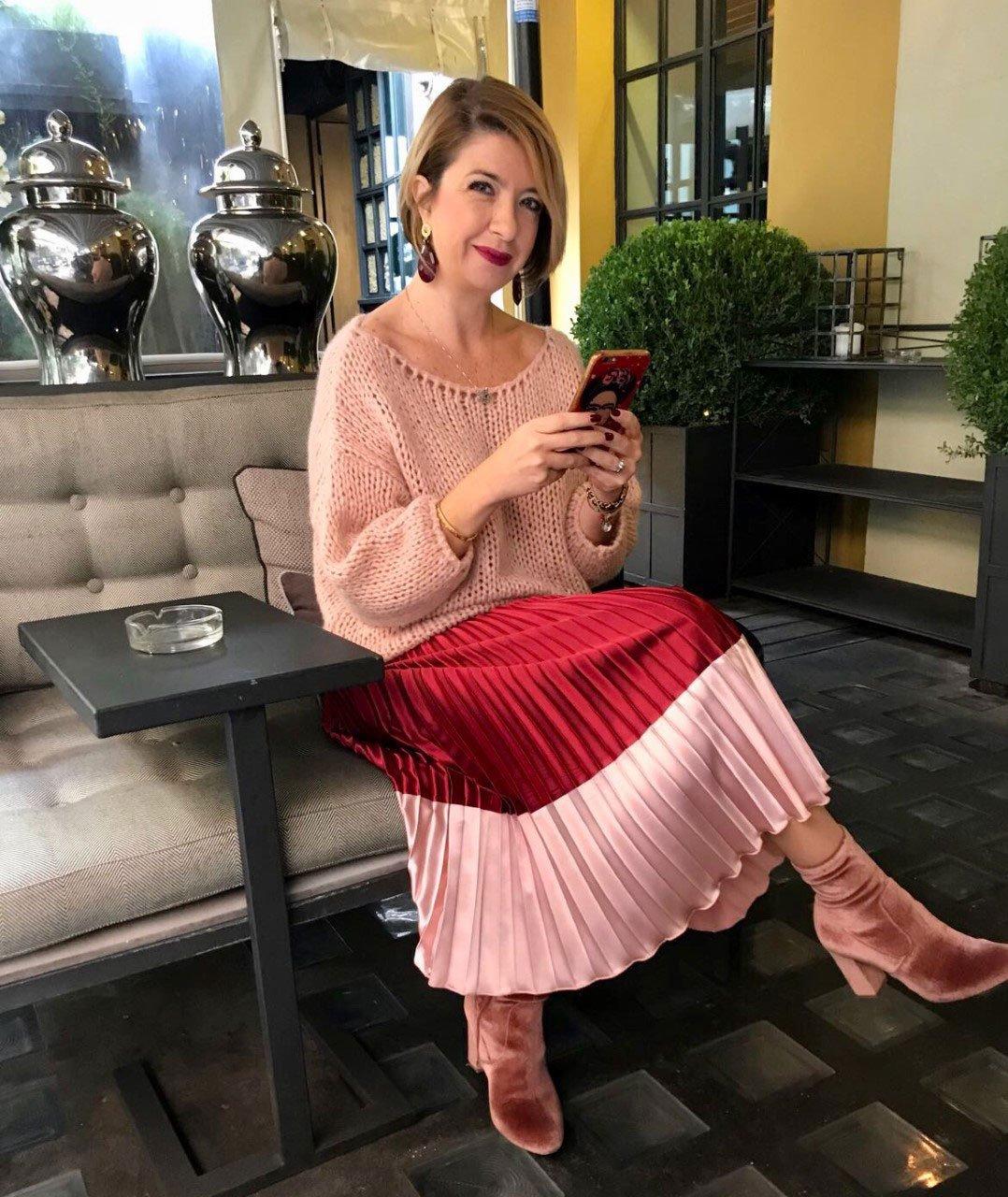 Outfit con il rosa e il rosso