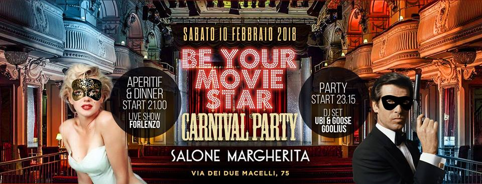 Festa di Carnevale Be Your Movie Star
