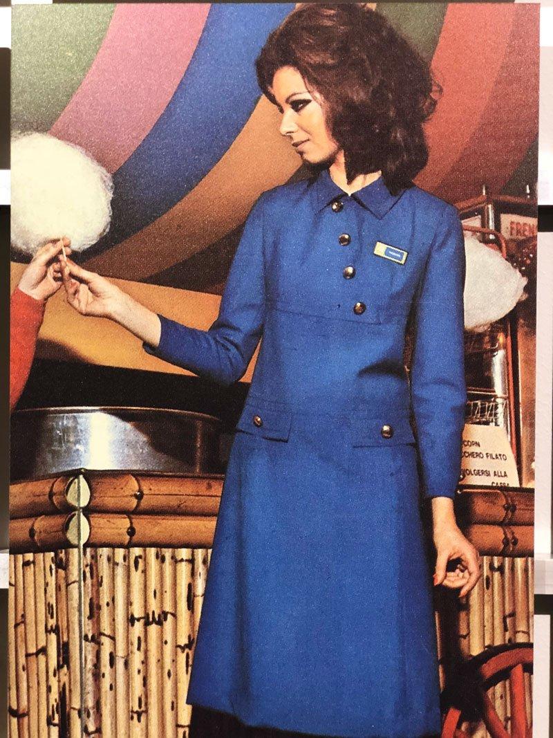 Un'immagine d'epoca di una campagna pubblicitaria Rinascente