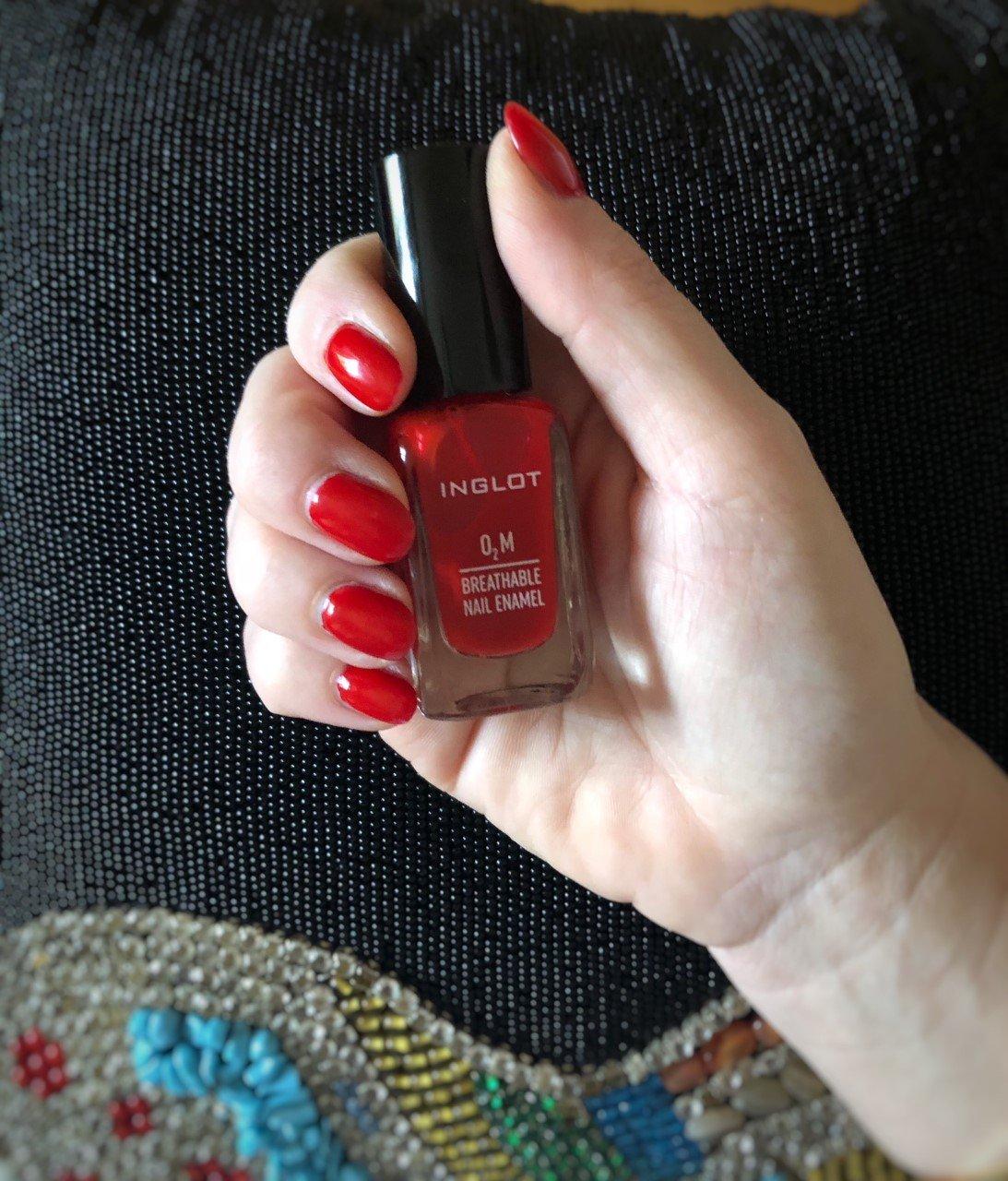Smalto rosso Inglot Cosmetics