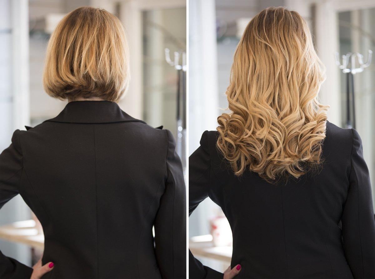 Extension capelli ricci con clip