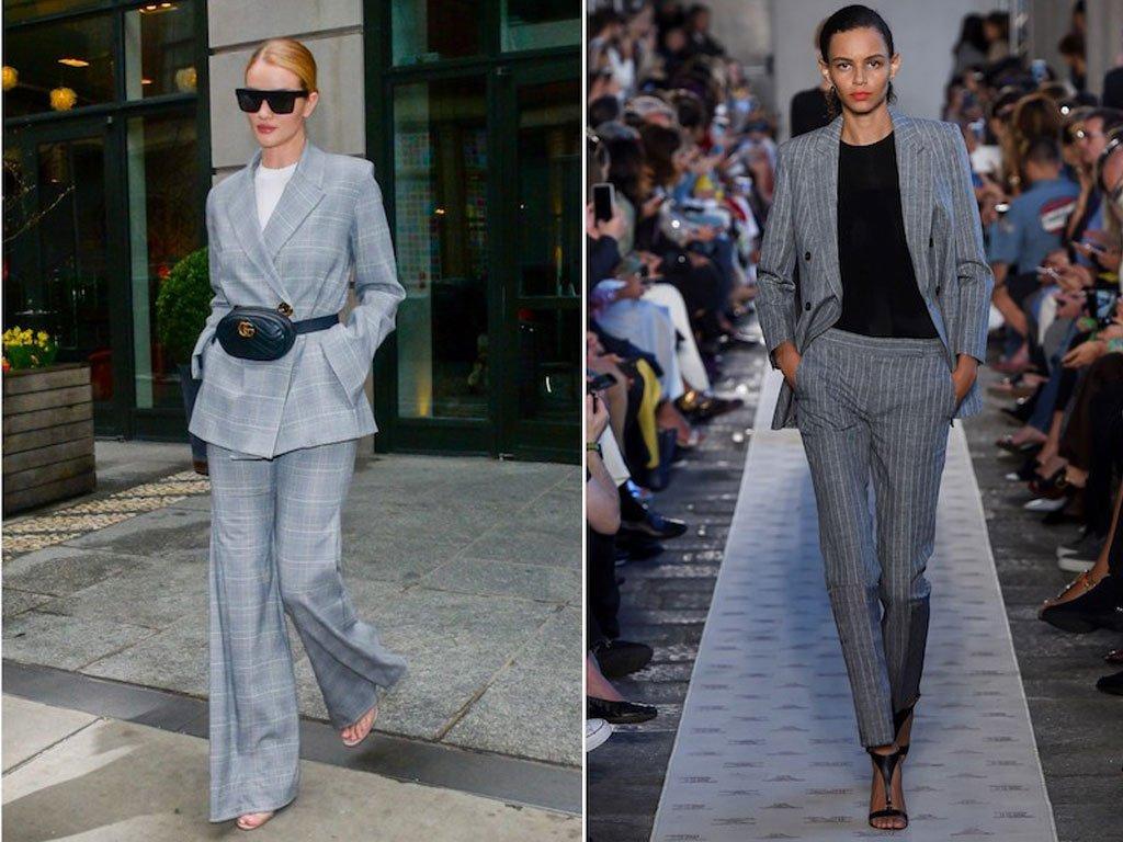Il tailleur giacca pantalone moderno